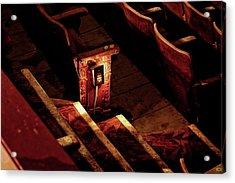 Row D, Seat 15 Acrylic Print by John Hoey