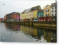 Row Homes On The River Lee, Cork, Ireland Acrylic Print
