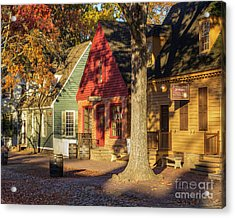 Row Houses Duke Of Gloucester Colonial Williamsburg Acrylic Print