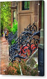 Row Houses - South End Boston Acrylic Print by Joann Vitali