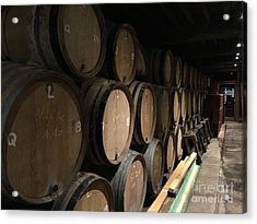 Row Of Barrels Acrylic Print