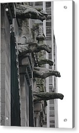 Acrylic Print featuring the photograph Row Of Gargoyles by Christopher Kirby