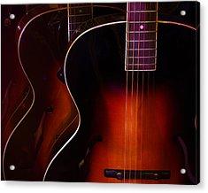 Row Of Guitars Acrylic Print
