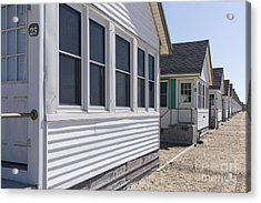 Row Of Identical Beach Cottages Acrylic Print