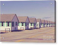 Row Of Vintage 1930s Beach Cottages On Cape Cod Acrylic Print