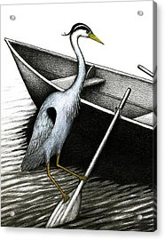 Row Vs Wade Acrylic Print by Don McMahon