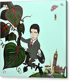 Rowan Atkinson Mr Beanstalk Acrylic Print