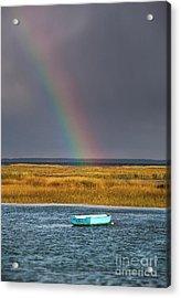 Rowboat Rainbow Acrylic Print