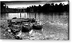 Acrylic Print featuring the photograph Rowboats At The Dock 2 by David Patterson