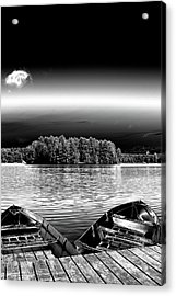 Acrylic Print featuring the photograph Rowboats At The Dock 3 by David Patterson