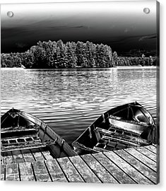 Acrylic Print featuring the photograph Rowboats At The Dock 4 by David Patterson