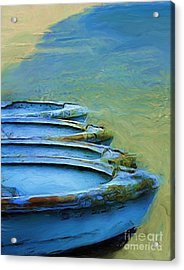 Rowboats Acrylic Print by Tom Griffithe
