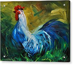 Rowdy Rooster Acrylic Print