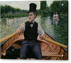 Rower In A Top Hat Acrylic Print