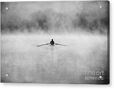 Rowing On The Chattahoochee Acrylic Print by Darren Fisher