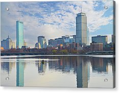 Rowing The Charles River - Boston Massachusetts Acrylic Print by Bill Cannon