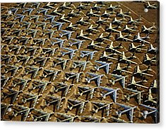 Rows Of B-52s Tucson Az Acrylic Print by Panoramic Images