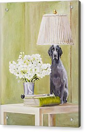 Roxy Being Bad Acrylic Print by Denise H Cooperman