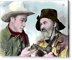 Roy Rogers And Gabby Hayes Acrylic Print by Charles Shoup