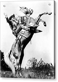 Roy Rogers Riding Trigger, Ca. 1940s Acrylic Print by Everett