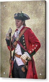 Royal Americans Officer Portrait  Acrylic Print by Randy Steele