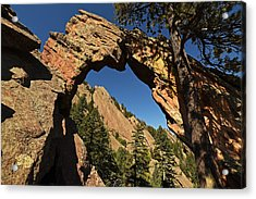 Royal Arch Trail Arch Boulder Colorado Acrylic Print