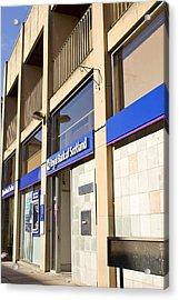 Royal Bank Of Scotland Acrylic Print by Tom Gowanlock