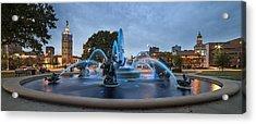 Royal Blue Fountain Acrylic Print