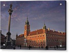 Royal Castle Warsaw Old Town Acrylic Print by Carol Japp