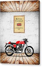 Royal Enfield Continental Gt Acrylic Print
