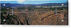 Royal Gorge Bridge Arkansas River Co Acrylic Print by Panoramic Images