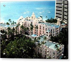 Royal Hawaiian Hotel  Acrylic Print