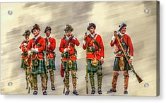 Royal Highlanders Review Acrylic Print by Randy Steele