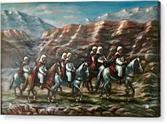 Acrylic Print featuring the painting Royal Knights by Laila Awad Jamaleldin