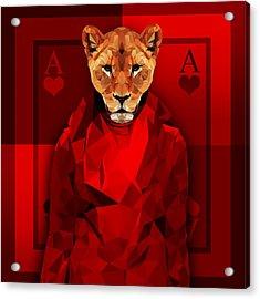 Royal Lioness Acrylic Print by Gallini Design