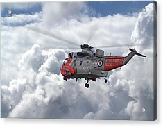 Acrylic Print featuring the photograph Royal Navy - Sea King by Pat Speirs