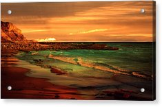 Royal Palms Beach At White Point Acrylic Print