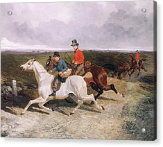 Royal Servants On The Road To Windsor Acrylic Print by John Frederick Herring Snr