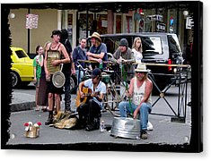 Royal Street Musicians Acrylic Print by Linda Kish