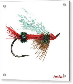 Royal Trude Salmon Fly Acrylic Print by Sean Seal