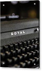 Royal Typewriter #19 Acrylic Print