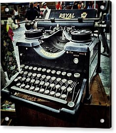 Royal Typewriter Acrylic Print