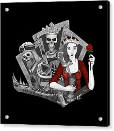 Acrylic Print featuring the digital art Royalty Love by Raphael Lopez