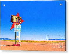 Roys Motel And Cafe Acrylic Print by Wingsdomain Art and Photography