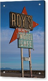 Acrylic Print featuring the photograph Roy's Motel Cafe by Matthew Bamberg