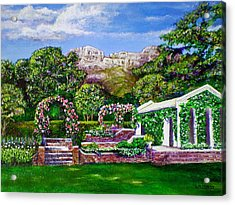Rozannes Garden Acrylic Print by Michael Durst