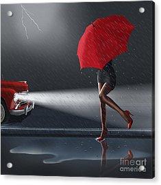 Rainy Day Acrylic Print by Monika Juengling