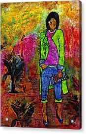 Rtr - Ready To Roll Acrylic Print by Angela L Walker