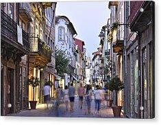 Rua Do Souto Braga Portugal Acrylic Print