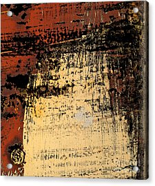 Rub Abstract Acrylic Print by Gary Everson
